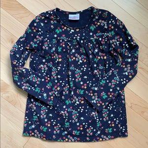 Hanna Andersson floral shirt 130 cm